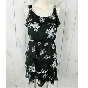 WHITE HOUSE BLACK MARKET RUFFLE SILK DRESS NWT